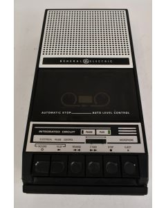 Vintage Portable General Electric Three Way Power Cassette Recorder - Tested