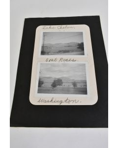 Two Old Black And White Photos From Lake Chelam In Washington Boat Races