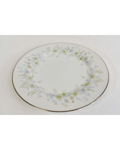 Ekco Prudence Bread Plate Serenade Pattern 342 White With Green Floral Designs