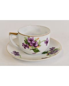 Norcrest Fine China Demitasse Cup And Saucer Sweet Violets NW-C-160-A #5/235