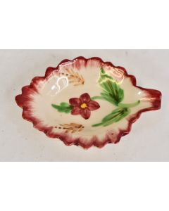 Unbranded Ceramic Porcelain Hand Painted Leaf Spoon Rest Flowers And Leaves