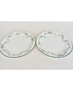 Set Of 2 Corelle By Corning Dinner Plates Pattern Callaway Ivy Microwavable