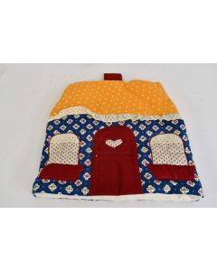 Vintage Colorful Hand Made Fabric Toaster Cover Designed As A House Unbranded