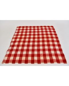 One Red And White Checkerboard Cloth Napkin Unbranded