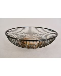 Vintage Raimond Silver Pllated Fruit Bowl W/ Caged Curved Sides And Round Bottom