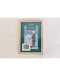 ACME Frames 5 x 7 Inch Gold Tone With White Boarder Frame Hang Or Stand Up