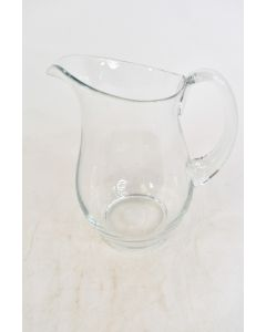 Vintage 1953 Sussmuth Clear Crystal Water Pitcher W/Curved Handle Serveware