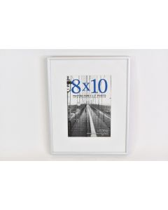 Metal Silver Tone Picture Frame With Glass