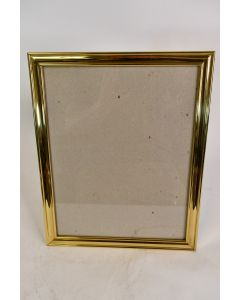 Metal Gold Tone Picture Frame Hanging Or Pedestal Made In Korea