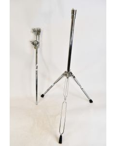 Gibraltar Silver Colored Double Braced Adjustable Drum Kit Tripod Stand And Feet