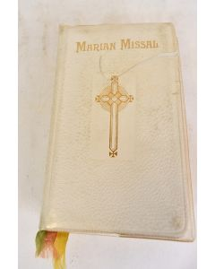 Vintage 1962 The New Marian Missal For Daily Mass Leather Cover W/ Dust Jacket
