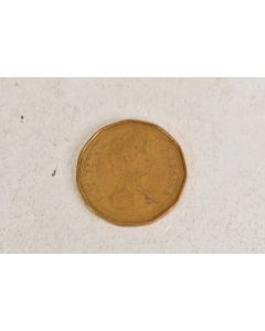 """Canada $1 """"Loonie"""" Loon Gold Colored Coin 1989"""