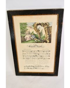Antique Borghese Wood Framed The Generous Repulse Music Wall Décor Home Décor