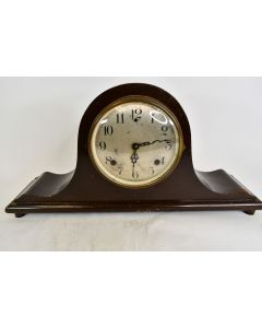 Vintage Sessions Humpback Mantle Clock With Glass Covering That Opens - Untested
