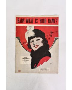 VTG Baby What Is Your Name Music By Jack Little Lyrics Tommie Malie Sheet Music