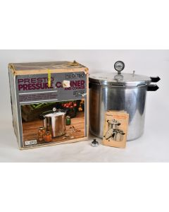 Presto 01780 Vintage Pressure Canner And Cooker 23 Quart With Box & Instructions