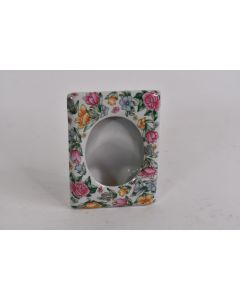 Small Ceramic Picture Frame With Flowers Home Décor Floral Picture Frame