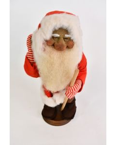 Vintage Old World Christmas Santa Doll With Stand And Gift Bag Made In Germany