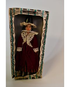 Vintage Rexard LTD Miss Wales Girl Doll Wearing National Costume By Odette Arden