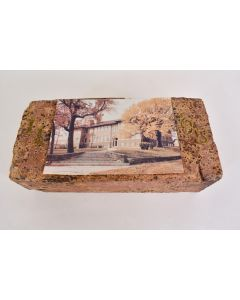 Vintage Signed Memorial Brick Dedicated For L.J. Haskins W/Photo Collectible