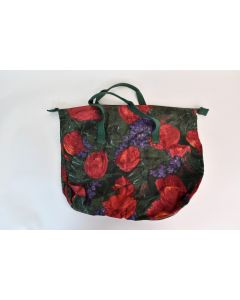 Boss Floral Multicolor Canvas Zippered Tote Reusable Shopping Bag Made In India