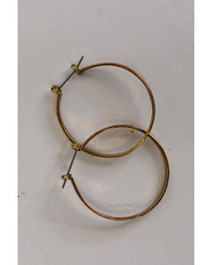 Unbranded Gold Tone Textured Hoop Earrings W/Backs Fashion Jewelry Accessories