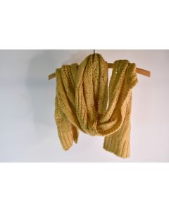 Worthington Gold Tan 93% Acrylic 7% Other Fiber Knitted Winter Scarf W/ Sequins