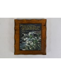 Vintage 1984 Serenity Prayer Wooden Plaque With Peg Stand Religious Saying Décor