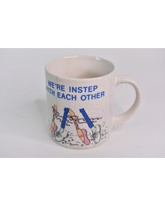 Vintage 1988 We're Instep With Each Other Ballet Coffee Mug W/Crazing Pattern