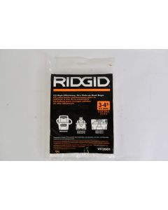 Ridgid High Efficiency Wet/Dry Pick-Up Dust Bags 3-4.5 US Gallons #VF3501 - New