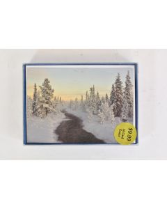 Set Of 16 Trimmerry Holiday Cards W/Envelopes Evergreens Near Snowy River - NIB