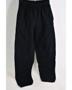 Fruit Of The Loom Men's Size Small Black 60% Cotton 40% Polyester Sweat Pants
