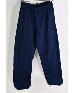 Fruit Of The Loom Men's Size Small Navy Blue 60% Cotton 40% Poly Sweat Pants