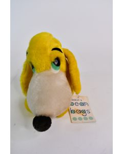 Vintage 1976 Dakin's Bean Bags Pitiful Pete Puppy Dog Toy #28-2394 With Tags