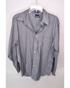 Stanley Blacker Men's Gray Button Up Long Sleeve Collared Shirt Size 16 32/33