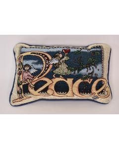 Peace Holiday Angel Tapestry Rectangular Throw Sofa Pillow Clouds & Sky Pattern