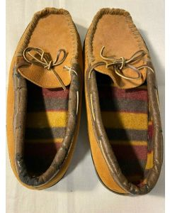 High Country TM Mens US Size 9 Moccasins Slippers Comfy Shoes Leather