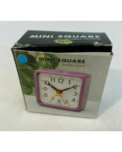 Mini Square Alarm Clock Bedroom House Bed Decor Home Battery Nightstand